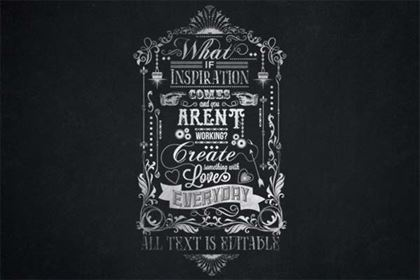 Typography Chalkboard Poster Template