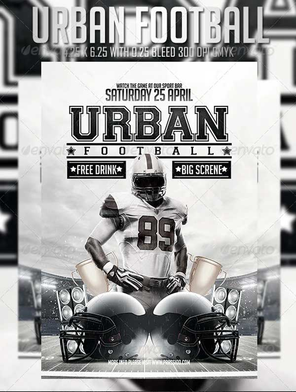 Urban Football Flyer Template