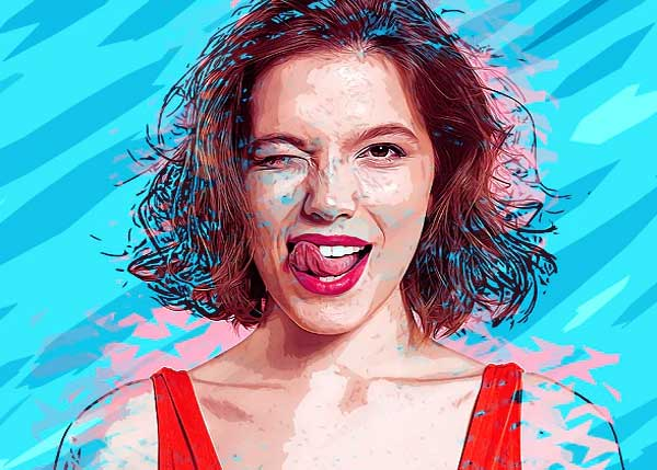 Vector Painting Effect Photoshop Action
