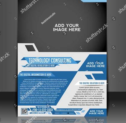 Vector Technology Consulting Flyer Template