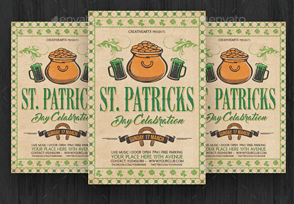 Vintage St. Patricks Day Flyer