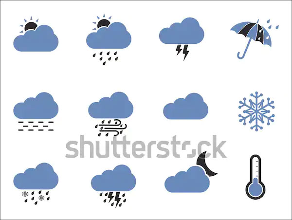 Weather Icons Two Tone Flat Design