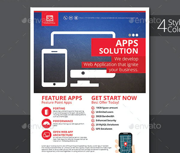 Web App Solution Flyer Template