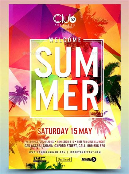 Welcome Summer Flyer Template