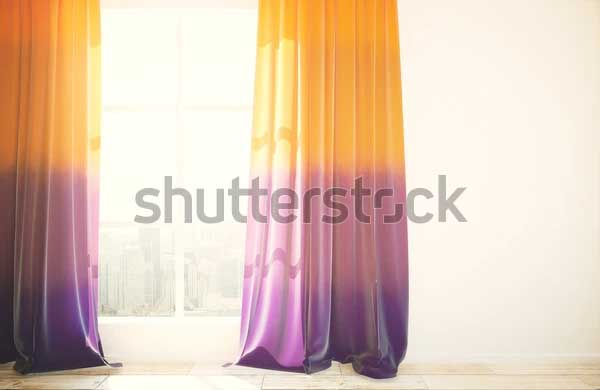 Window with Curtain Mockup