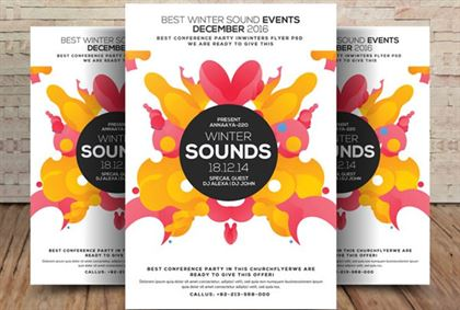 Winter Sound Season Flyer Template