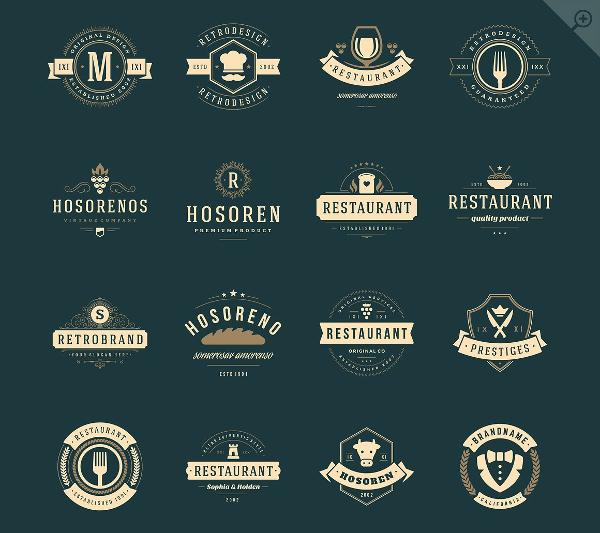 16 Restaurant Logos & Badges