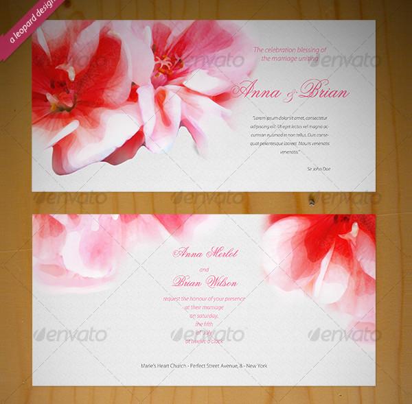 Attractive Wedding PSD Invitations