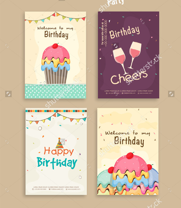 Birthday Abstract Flyer Template