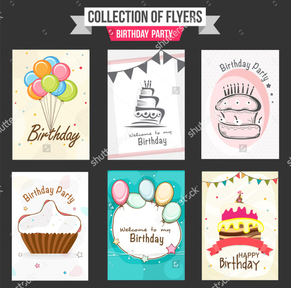 Colorful Collection of Birthday Party Flyers