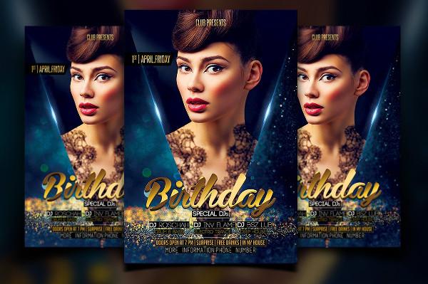 Luxury Birthday Party Ceremony Flyer