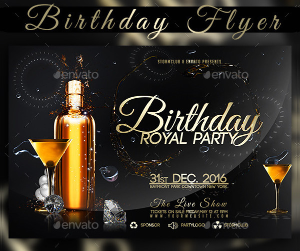 21 Birthday Party Flyer Free Premium Psd Vector Tf Downloads