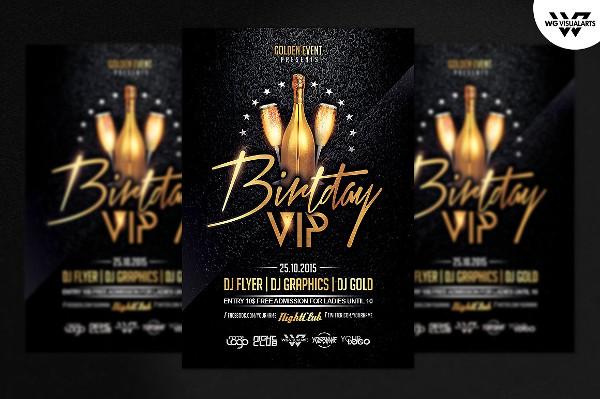 Birthday VIP Flyer Template