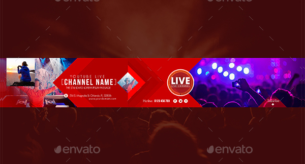 31+ YouTube Banner Templates – Free Sample Example PSD Downloads