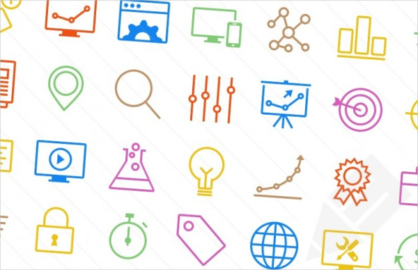 Free SEO Colorful Icons Template