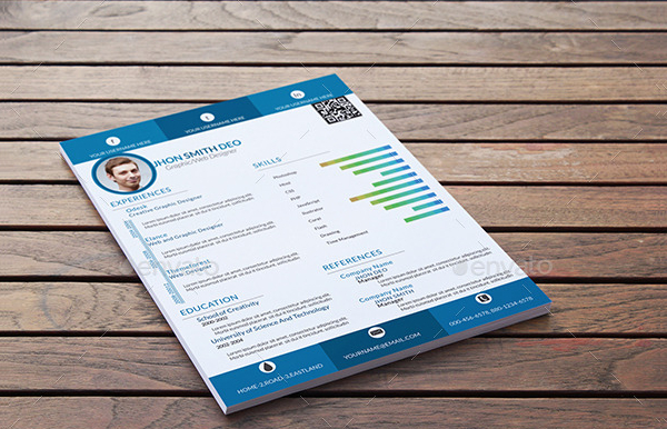 Colorful Single Page Resume