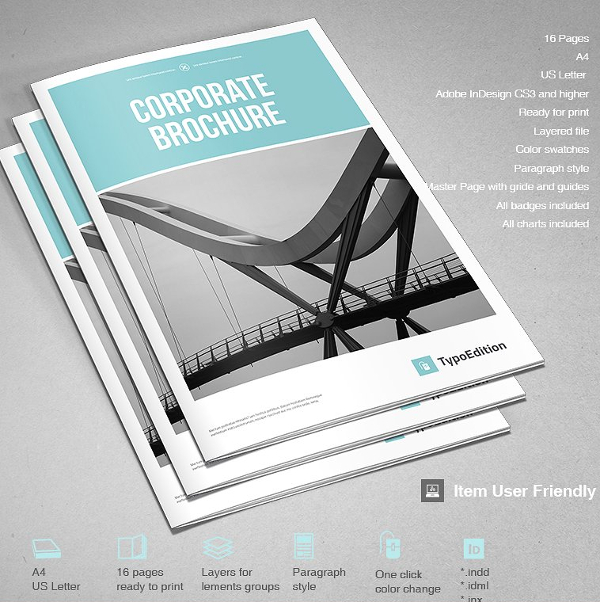 Corporate Brochure Templates Free Premium Download - Modern brochure template