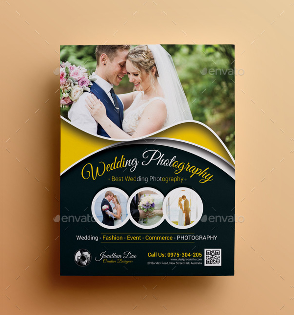 Dark Wedding Photography Flyer Template