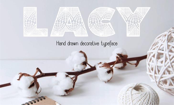 Free Lacy Font Template