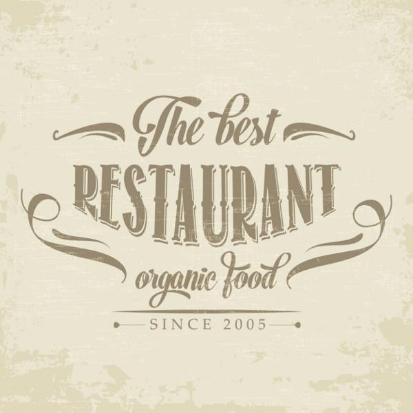 Retro Logo for a Restaurant Free Vector