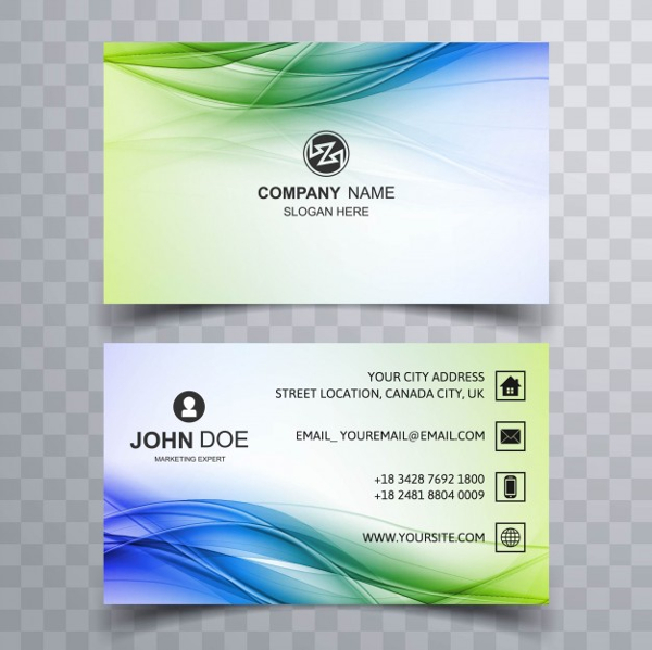 23 fashion business card free premium psd illustrator downloads green blue wavy business card free reheart Images