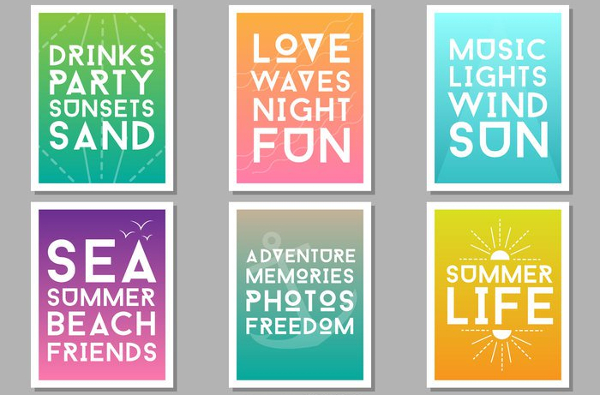 Free Summer Party Design Posters