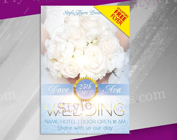 Wedding Free PSD Flyer Template