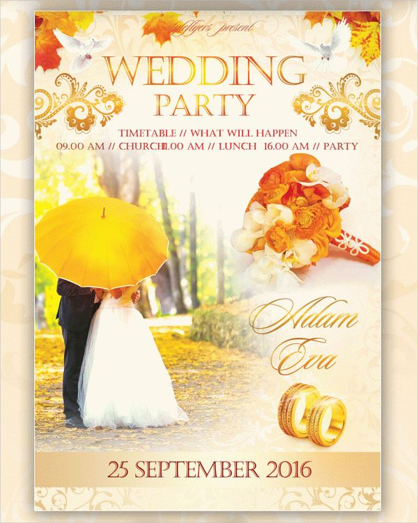 Free Wedding Party Flyer Template