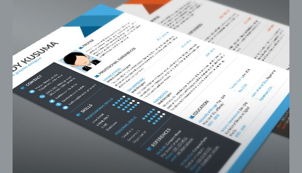 Free Download Single Page Resume Template