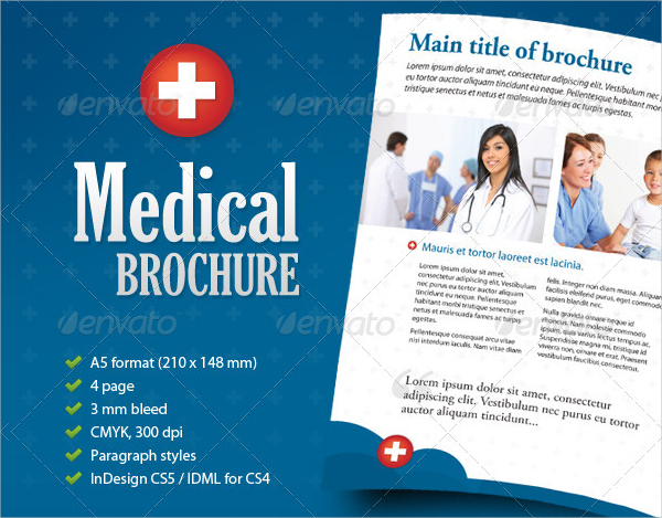 Best Medical Care Brochure Template  Medical Brochures Templates