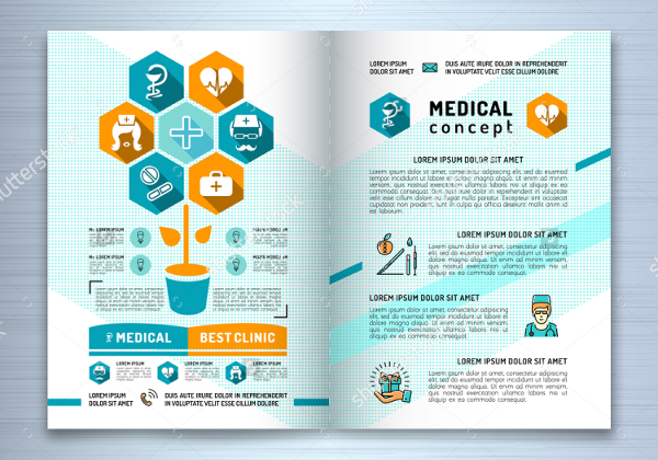 Medical Infographic Brochure Template