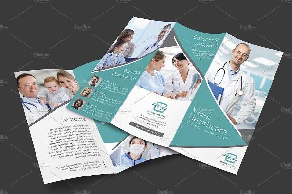 Modern Medical Trifold Brochure Template