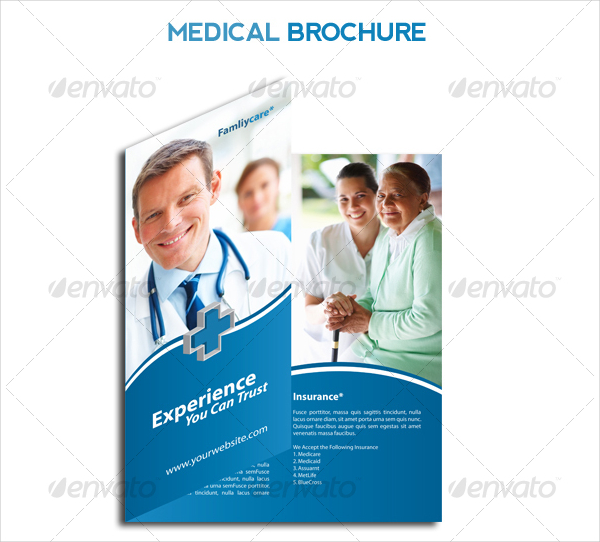 Hospital Flyer Template Medical Care And Hospital Trifold Brochure
