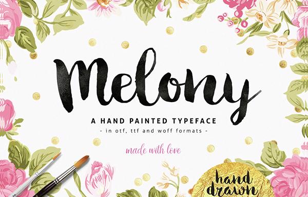Melony Script Brush Font