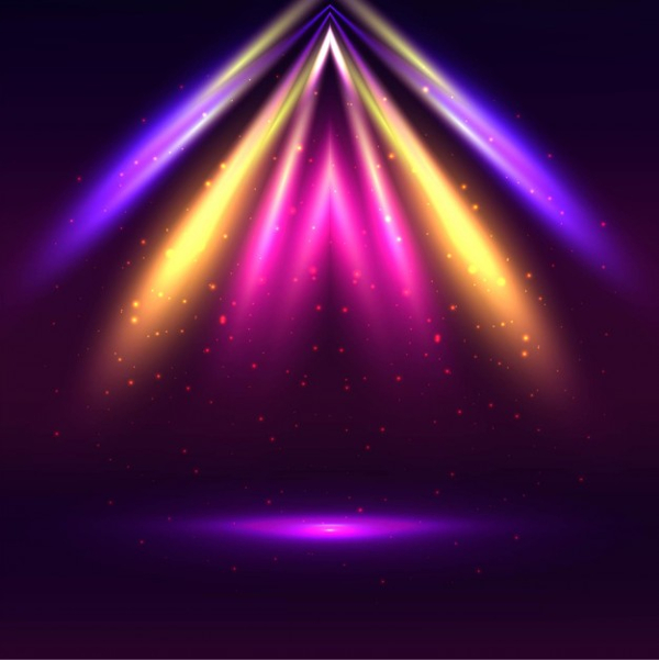 Modern Spotlight Colorful Background