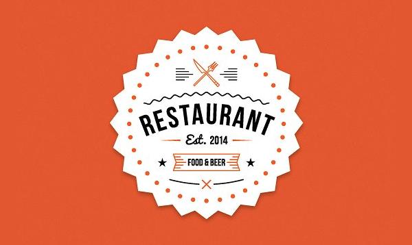 Modern Burger House Logo Template