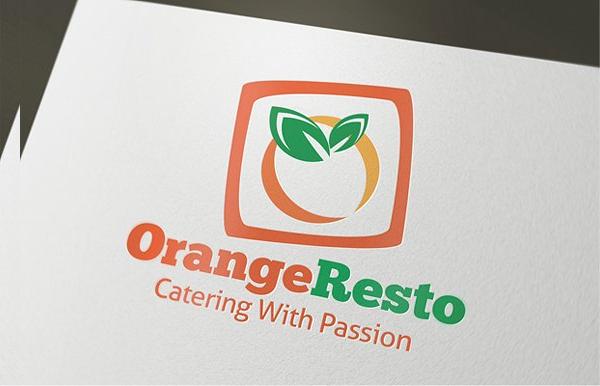 Orange Restaurant Logo Template