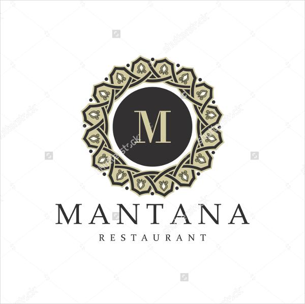 Vintage Style Logo Template of Restaurant