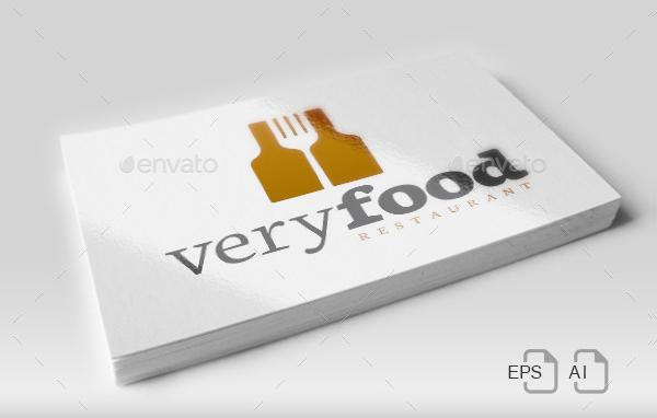 Restaurant Typographical Design Logo