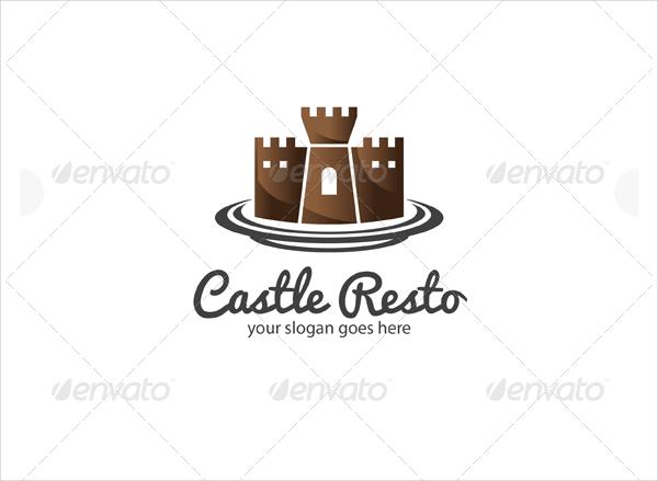 Restaurant Castle Logo Template