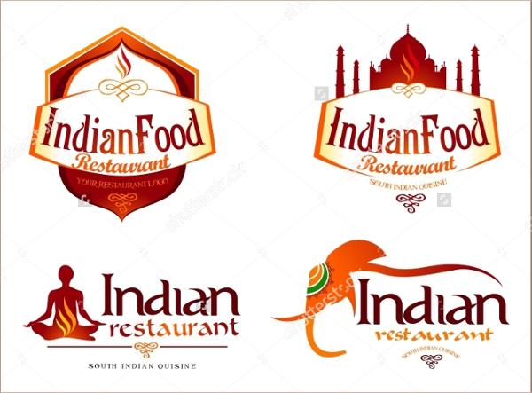 Indian Restaurant Food Logo Template