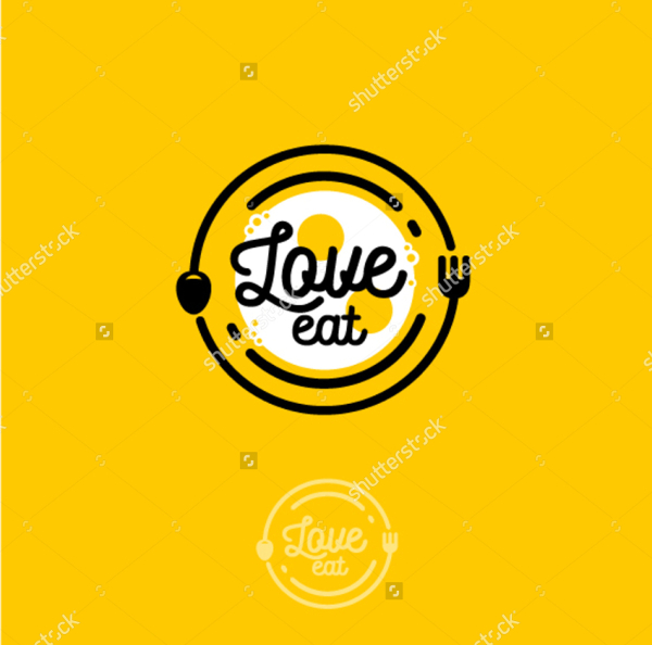 Restaurant Love Logo Template