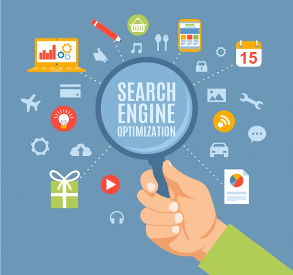 Free Search Engine Optimization Concept Icons