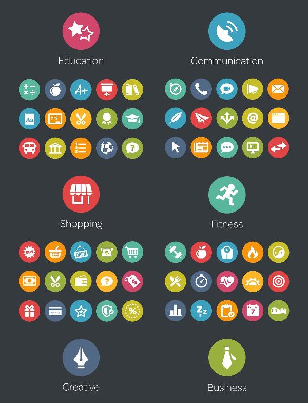 SEO Circle Icons Bundle