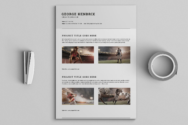 All in One Single Page Resumes Pack