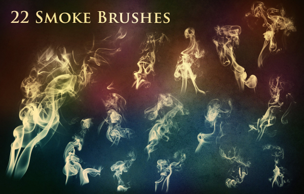 22 Decorative Smoke and Fire Brushes