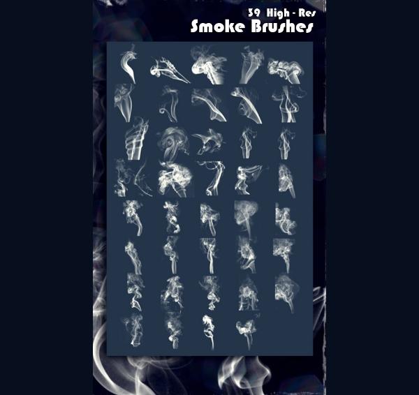 39 Professional Smoke Brushes