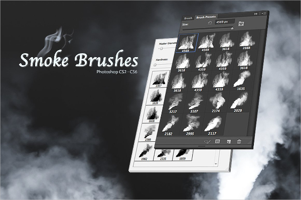 High Quality Smoke Brush Pack for Photoshop