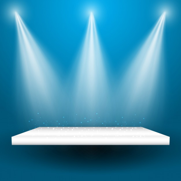 Spotlight Display Background Design