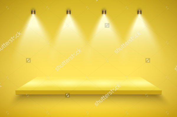 Spotlight Yellow Backgrounds Design